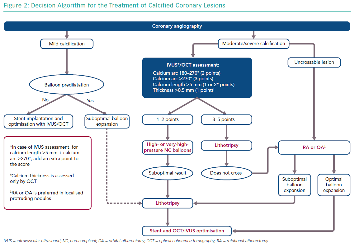 Decision Algorithm for the Treatment of Calcified Coronary Lesions