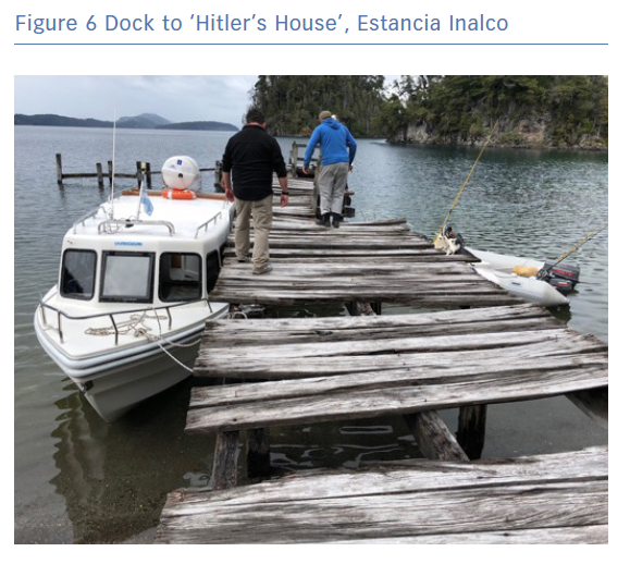 Dock to 'Hitler's House', Estancia Inalco