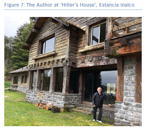 The Author at 'Hitler's House', Estancia Inalco