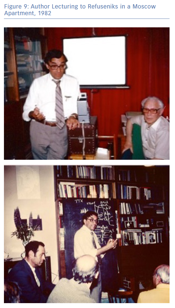 Author Lecturing to Refuseniks in a Moscow Apartment, 1982