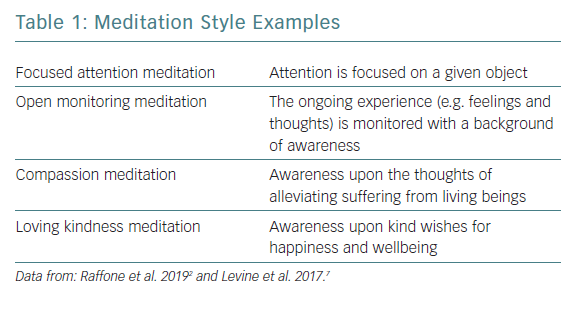 Meditation Style Examples