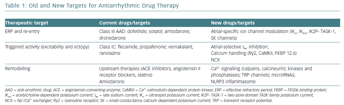 Old and New Targets for Antiarrhythmic Drug Therapy