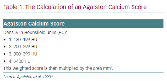 The Calculation of an Agatston Calcium Score
