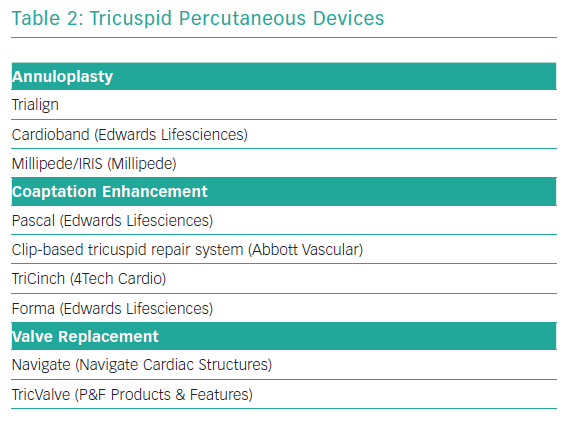 Tricuspid Percutaneous Devices