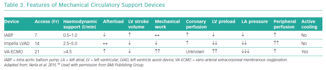 Features of Mechanical Circulatory Support Devices