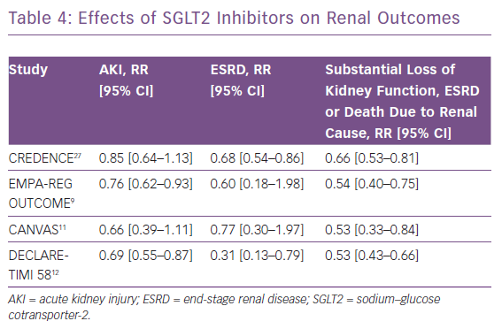 Effects of SGLT2 Inhibitors on Renal Outcomes