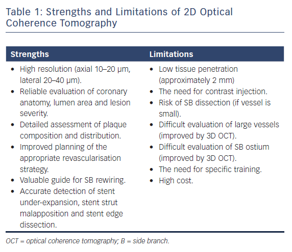 Strengths and Limitations of 2D Optical Coherence Tomography