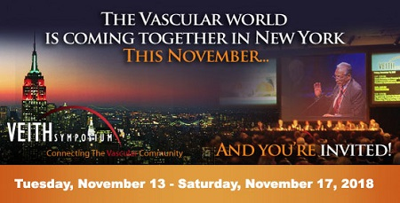 45th VEITH Annual Symposium on Vascular and Endovascular Issues 2018