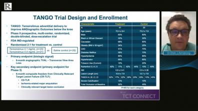 TCT Connect 2020: Results from the TANGO Trial — Dr Ehrin J Armstrong