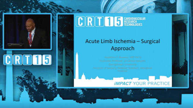 Acute Ischemic Limb - Endovascular Approach - Frederick P. Beavers, MD & Peter A. Soukas, MD