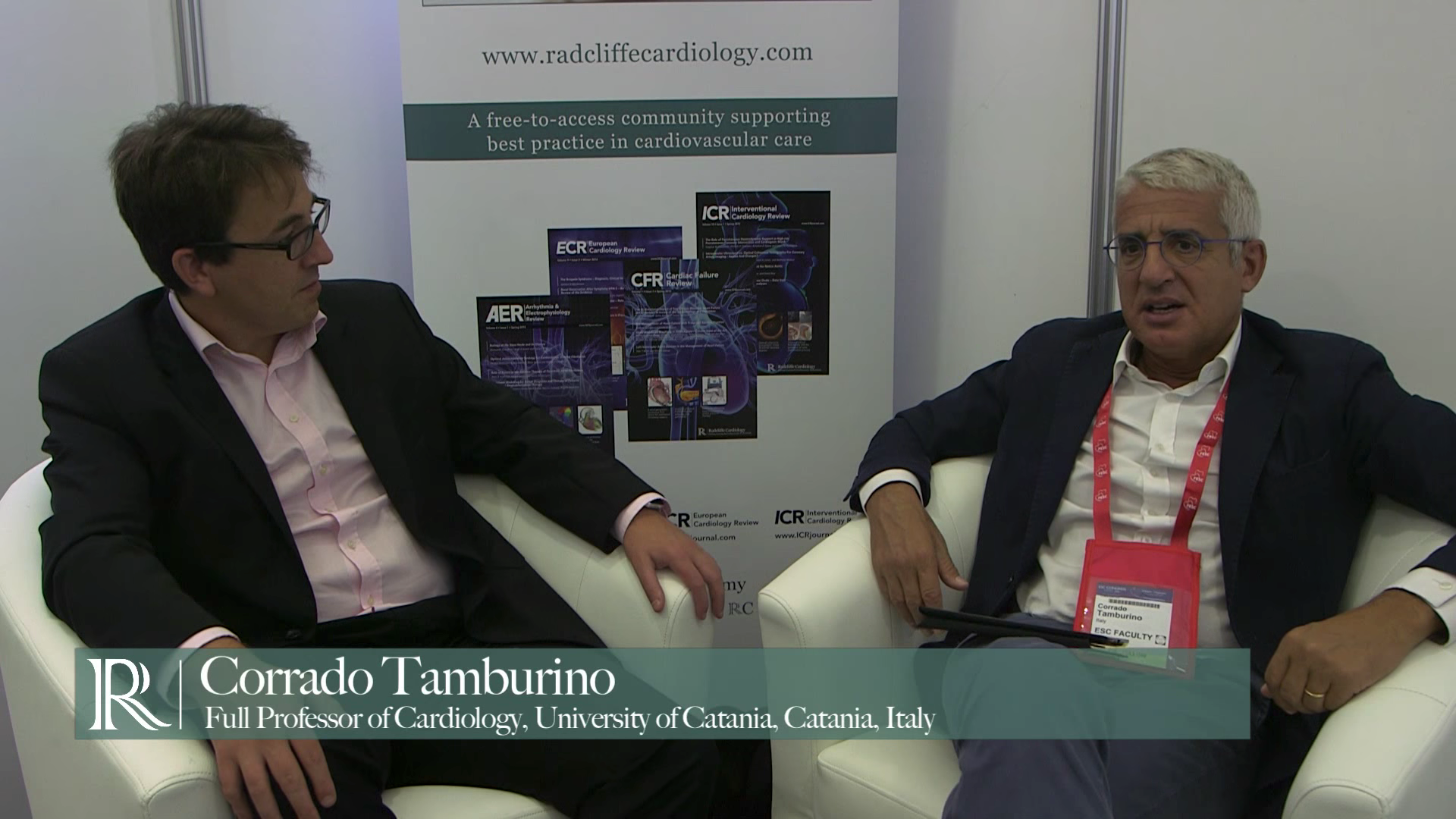 ESC 2015: IVUS In Complex Lesions discuss with Justin Davies and Corrado Tamburino
