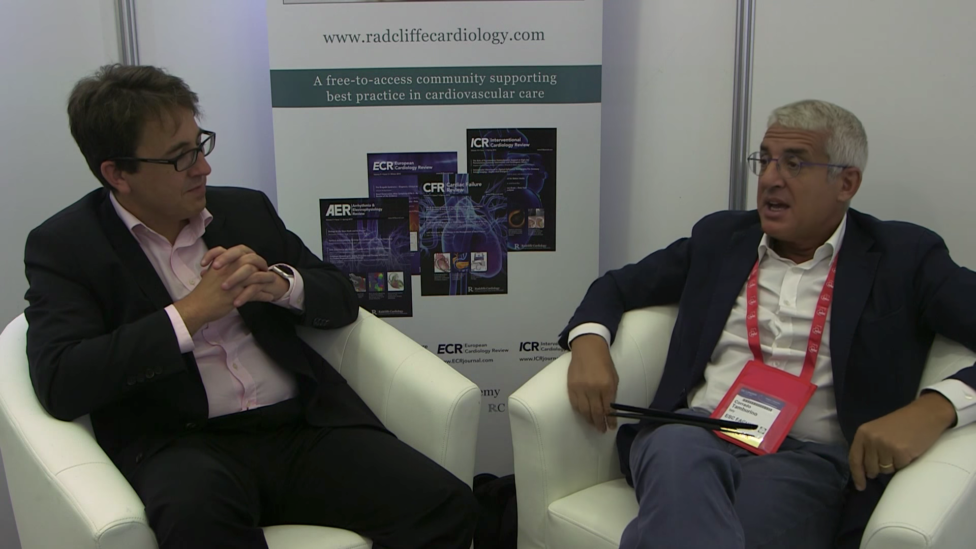 ESC 2015: IVUS Clinical discuss with Case Justin Davies and Corrado Tamburino