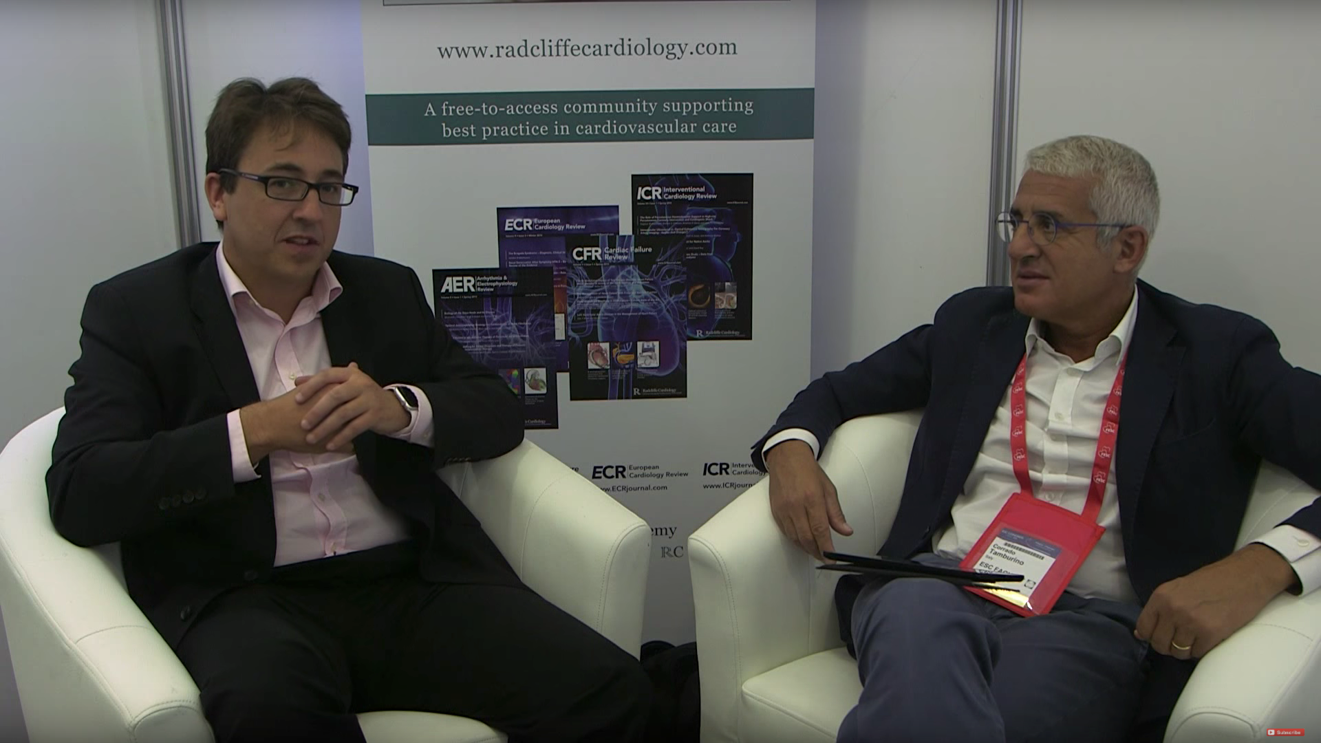 ESC 2015: IVUS For BVS Implants discuss with Justin Davies and Corrado Tamburino